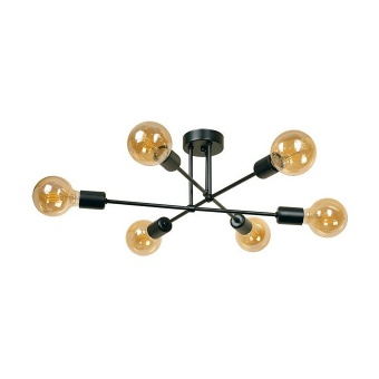 плафон компас, черен, sirius lights, 6xe27, 268506