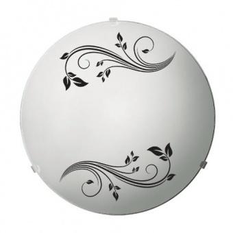 стъклен плафон, черно/бяло, siriuslights, гардения, 2x60w, 247413