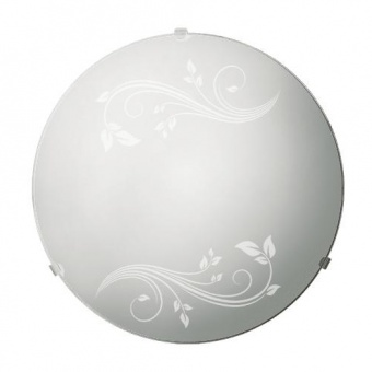 стъклен плафон, бял, siriuslights, гардения, 2x60w, 247423