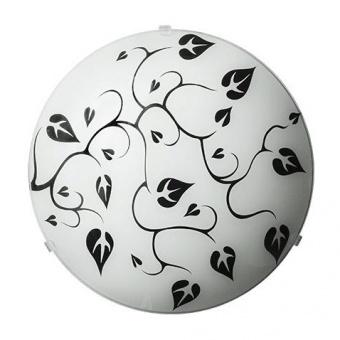 стъклен плафон, черно/бяло, siriuslights, лиана, 2x60w, 247213