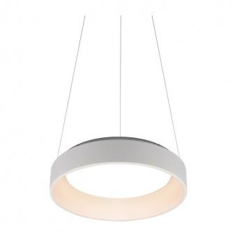 пендел apollo, matt white+opal, aca lighting, led 34w, 3000k, 1700lm, br81ledp45wh
