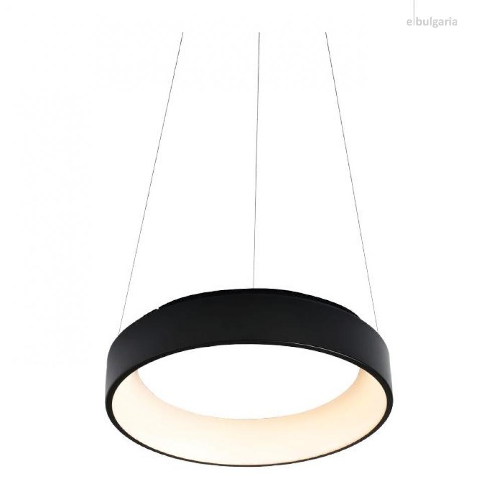 пендел apollo, matt black+opal, aca lighting, led 34w, 3000k, 1700lm, br81ledp45bk