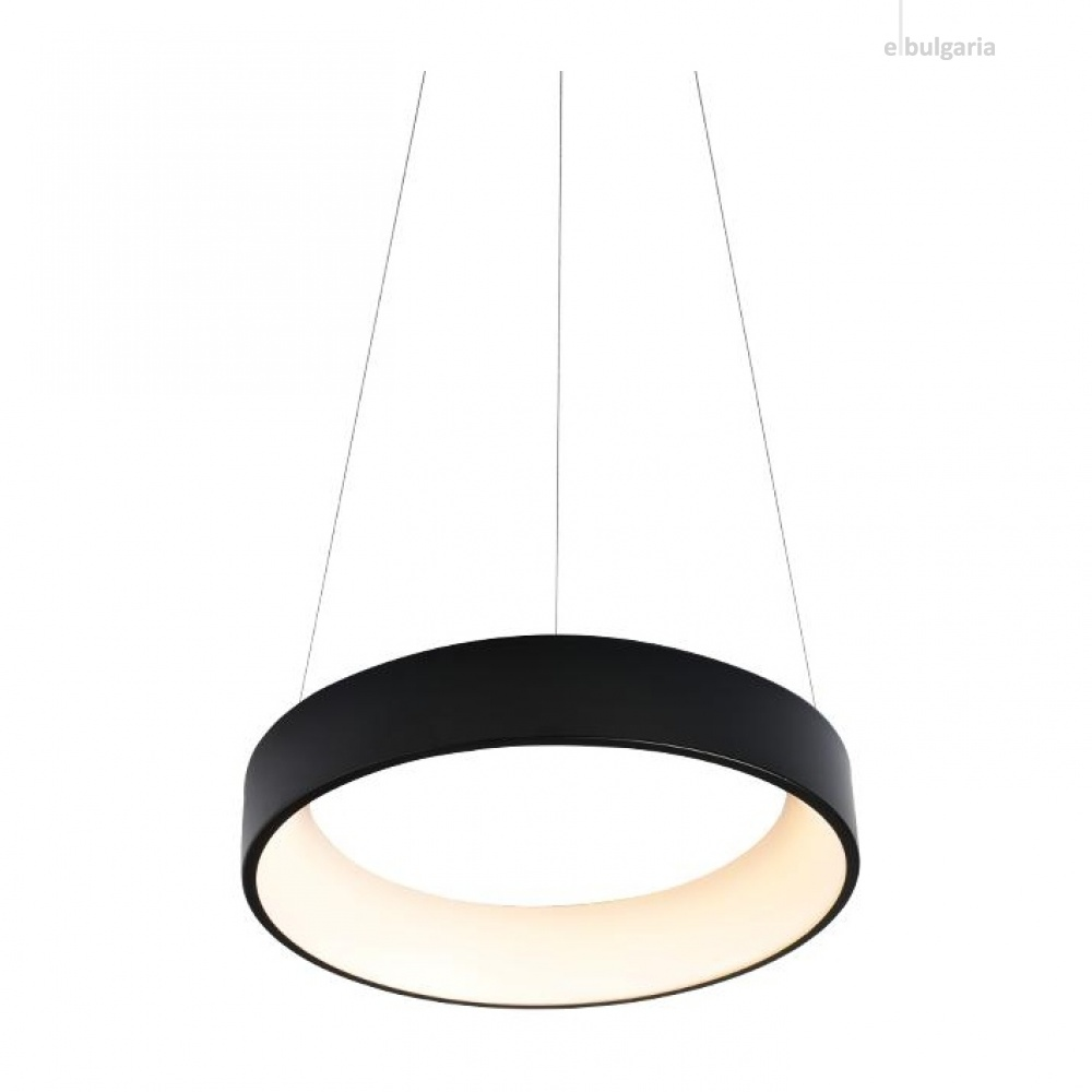 пендел apollo, matt black+opal, aca lighting, led 34w, 3000k, 1700lm, br81ledp45bkd