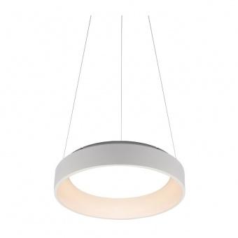 пендел apollo, matt white+opal, aca lighting, led 48w, 3000k, 2630lm, br81ledp60wh