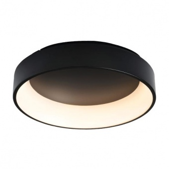 плафон apollo, matt black+opal, aca lighting, led 48w, 3000k, 2630lm, br81ledc60bkd