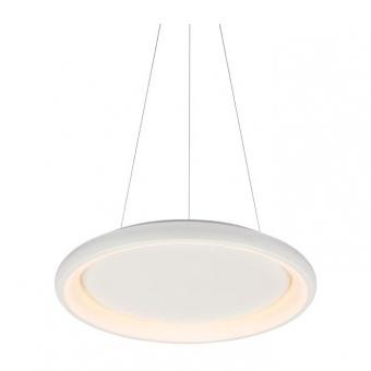пендел diana, matt white+opal, aca lighting, led 34w, 3000k, 2330lm, br71ledp41whd
