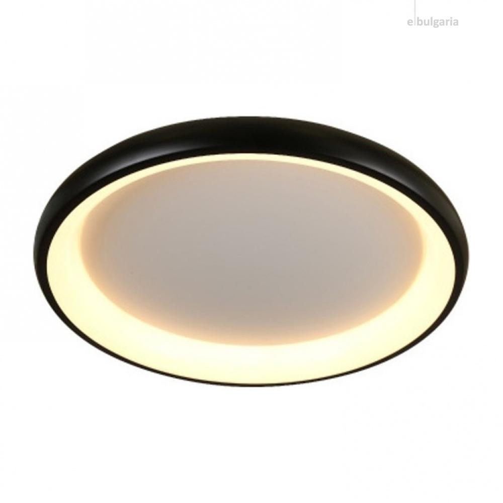 плафон diana, matt black+opal, aca lighting, led 48w, 3000k, 4610lm, br71ledc61bk