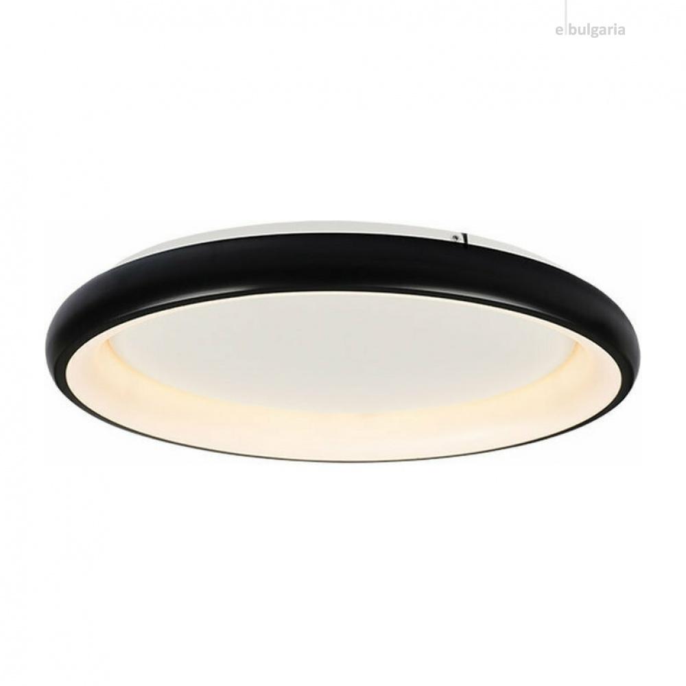 плафон diana, matt black+opal, aca lighting, led 48w, 3000k, 4610lm, br71ledc61bkd