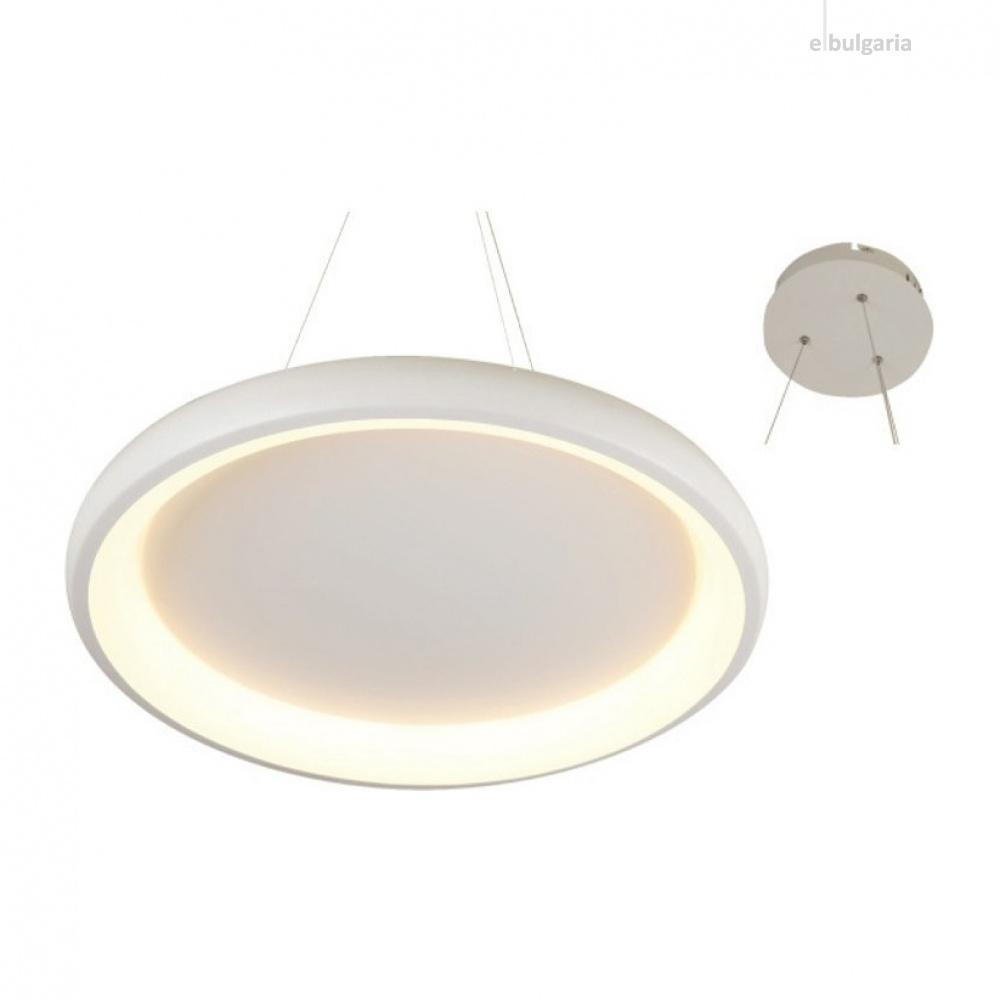 пендел diana, matt white+opal, aca lighting, led 48w, 3000k, 4610lm, br71ledp61wh
