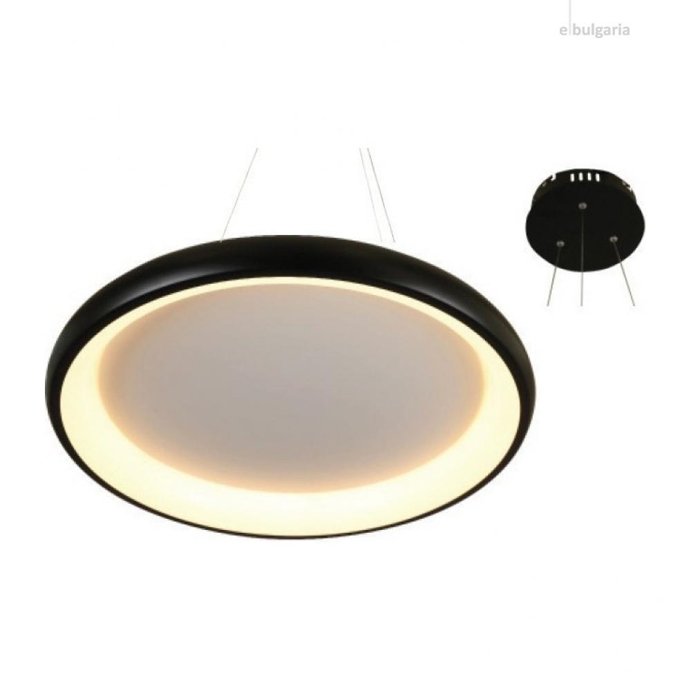 пендел diana, matt black+opal, aca lighting, led 48w, 3000k, 4610lm, br71ledp61bkd