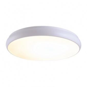 плафон kallista, matt white+sandblast, aca lighting, led 54w, 3000k, 4320lm, v27ledc60wh