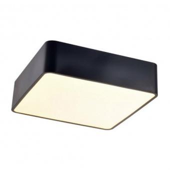 плафон emery, matt black+sandblast, aca lighting, led 40w, 3000k, 3200lm, v28ledc48bk