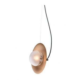 пендел layla, brushad brass-matt black+white-clear, aca lighting, 1xG9, hl4321p23bb