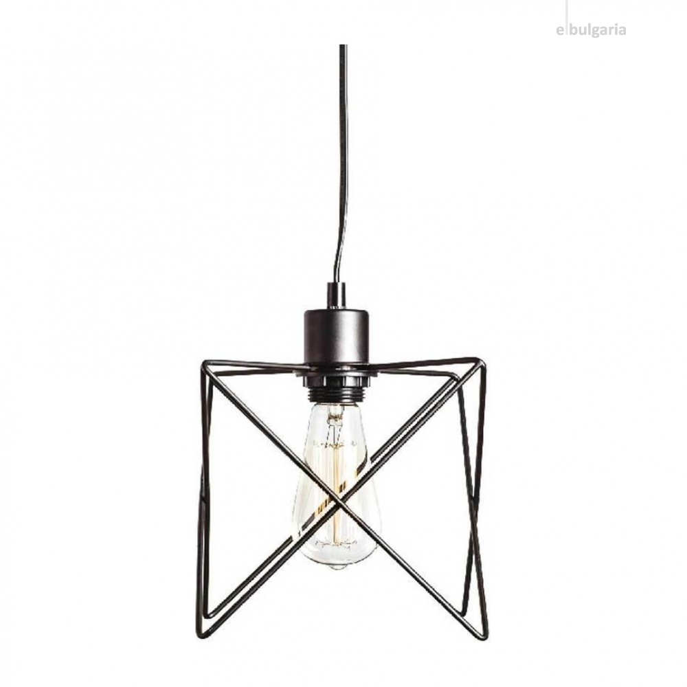 пендел andy, matt black, aca lighting, 1xE27, ks1462p1bk