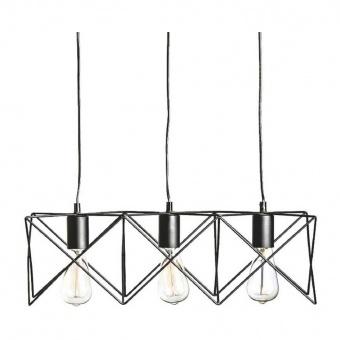полилей andy, matt black, aca lighting, 3xE27, ks1462p3bk