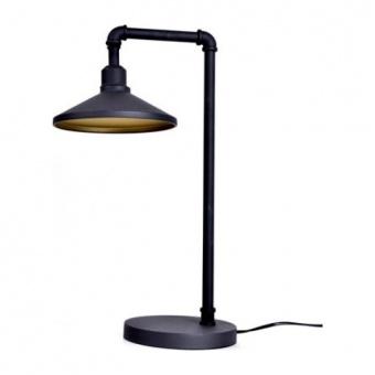 настолна лампа pipe, black+brass paint, aca lighting, 1xE27, ar4171t56bg