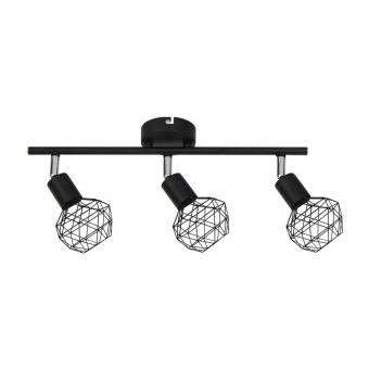 спот aladdin, black, aca lighting, 3xE14, mc15613b