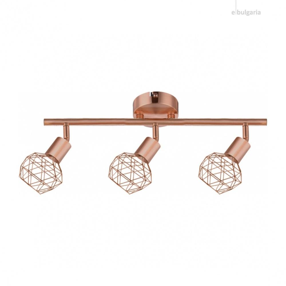 спот aladdin, satin copper, aca lighting, 3xE14, mc15613c