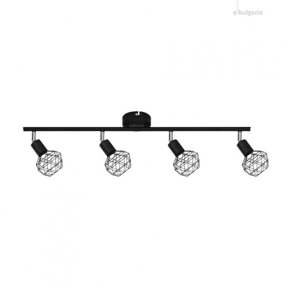 спот aladdin, black, aca lighting, 4xE14, mc15614b