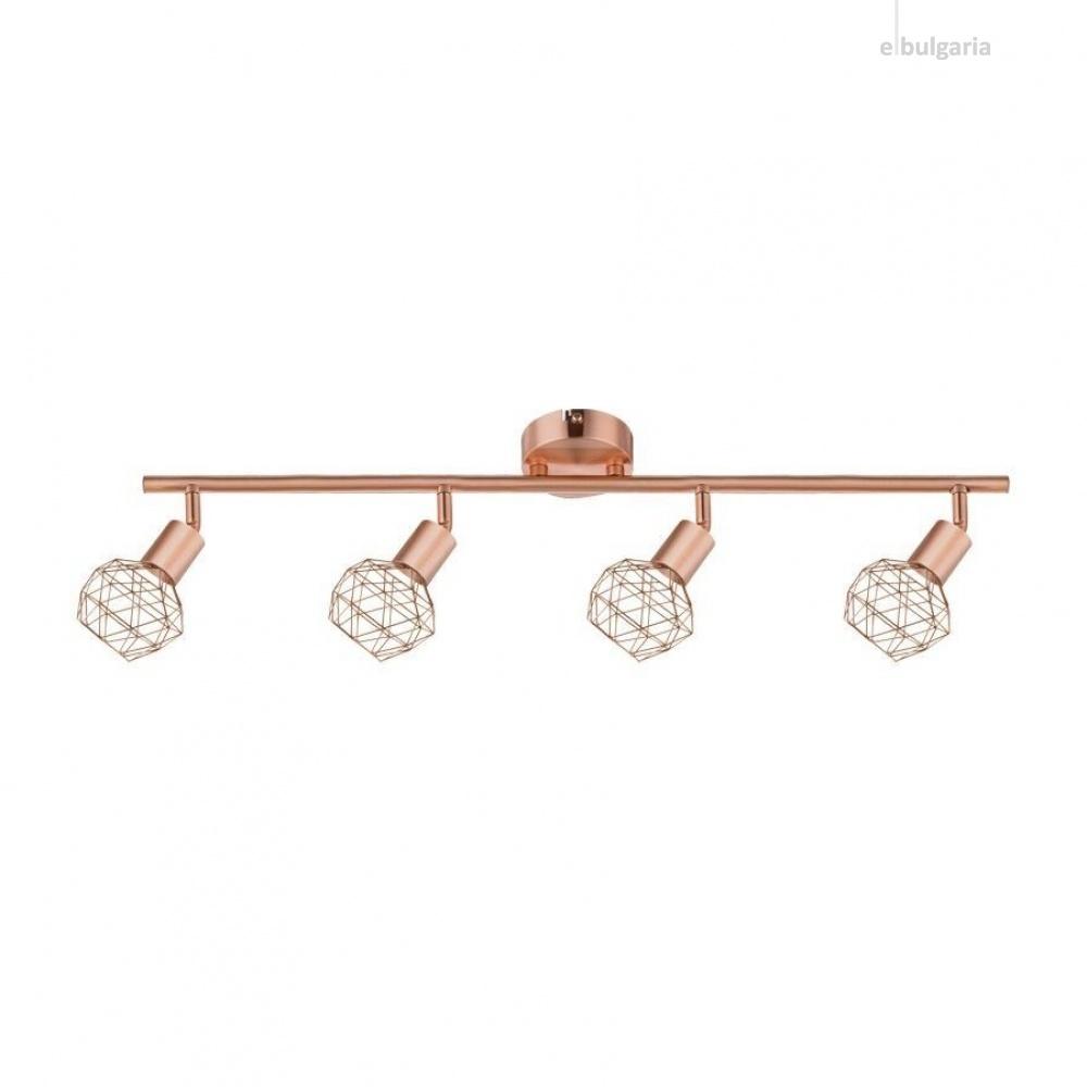 спот aladdin, satin copper, aca lighting, 4xE14, mc15614c