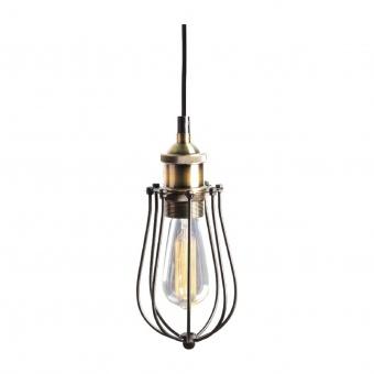 пендел sotis, matt black+antique brass, aca lighting, 1xE27, ks2047p1bk