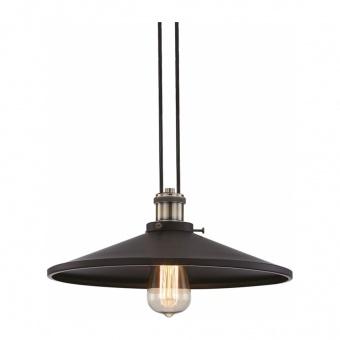 пендел hippolyte, matt black+antique brass, aca lighting, 1xE27, ks12882cb