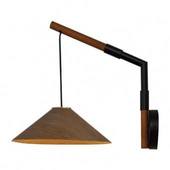 аплик nairobi, walnut+matt black+brass, aca lighting, 1x GX53, mq13w130ww