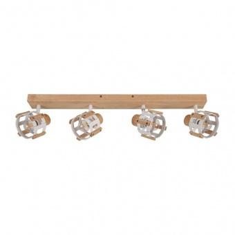 спот talos, matt white+natural, aca lighting, 4xE14, gn46s4ww