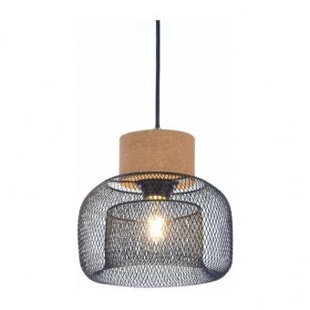 пендел maracu, natural+matt black, aca lighting, 1xE27, gn51p122cb