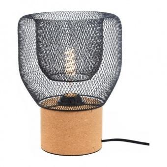 настолна лампа maracu, natural+matt black, aca lighting, 1xE27, gn51t121cb