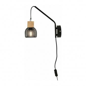 аплик maracu, natural+matt black, aca lighting, 1xE14, gn51w1cb
