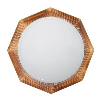 стъклен плафон, рустик дърво, siriuslights, дърво осмограм, 2x60w, 010319