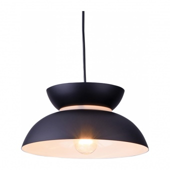 пендел aeolus, matt black+sandblast, aca lighting, 1xE27, ks871p29bk