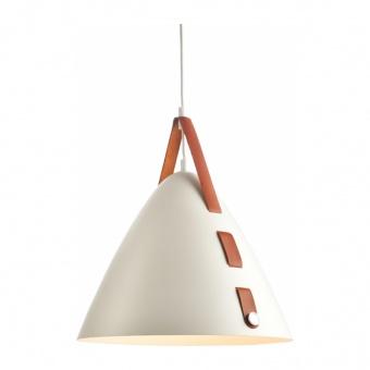 пендел naomi, matt white+caramel color, aca lighting, 1xE27, hl41441p33wh