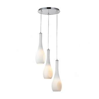 полилей cave, chrome+white, aca lighting, 3xE14, dla5203a