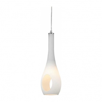 пендел cave, chrome+white, aca lighting, 1xE14, dla5201