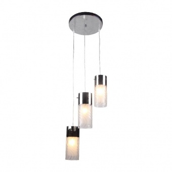 полилей dali, chrome+sandblast+clear, aca lighting, 3xE14, fw50503