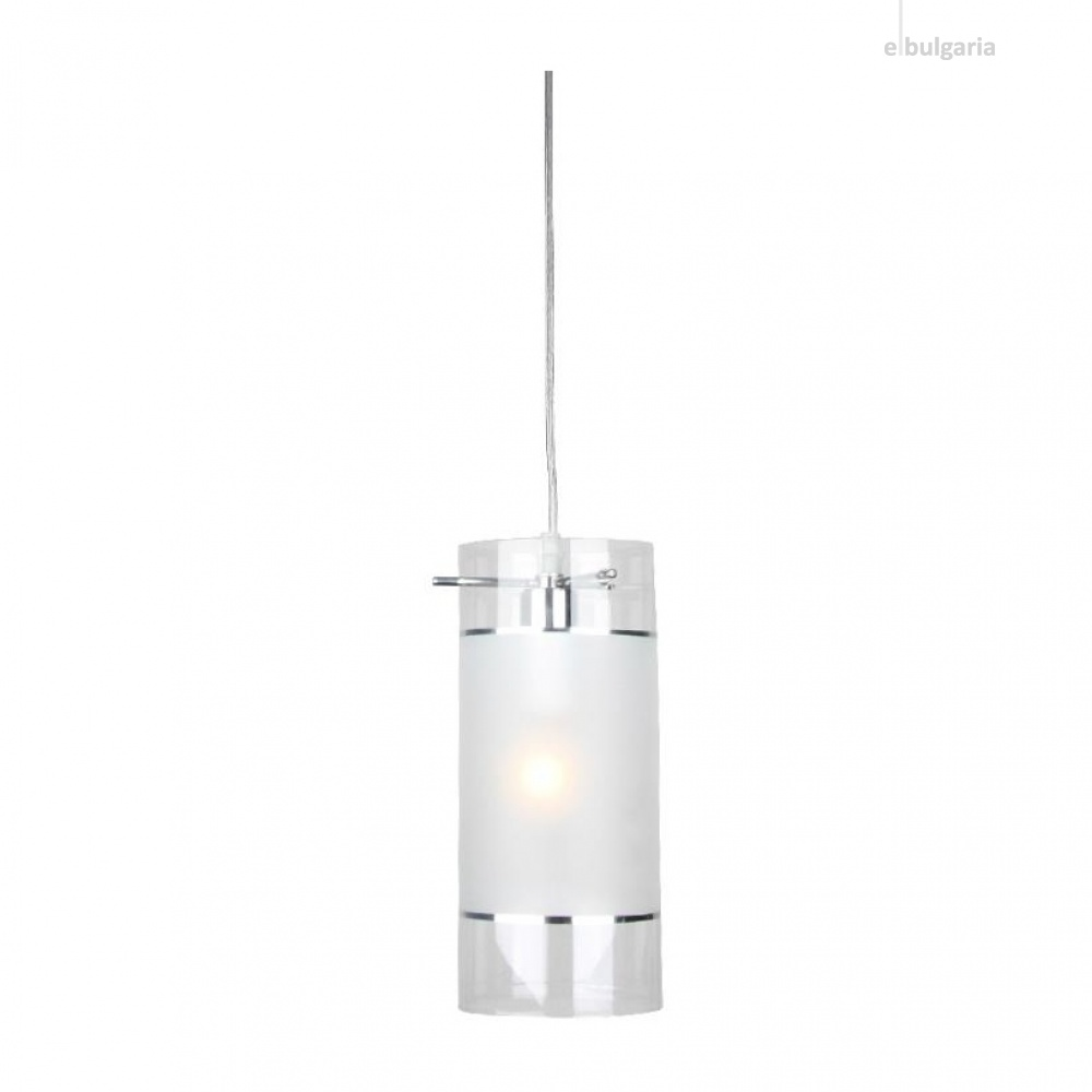 пендел mane, chrome+sandblast+clear, aca lighting, 1xE14, fw50671