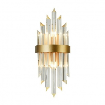аплик empire, champagne gold+clear, aca lighting, 2xE14, eg6172w54cg