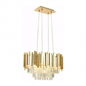 полилей empire, champagne gold+clear, aca lighting, 4xE14, eg6174p50cg