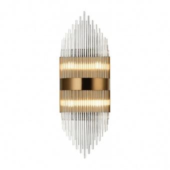 аплик dynasty, satin brass+clear, aca lighting, 4xG9, eg1844w54ab