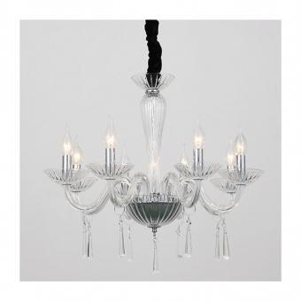 полилей violet, chrome+clear+black, aca lighting, 8xE14, blk80288pcc