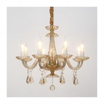полилей lompelia, polished gold+chamagne+gold, aca lighting, 8xE14, blk80388pcmg