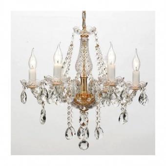 полилей gladiolo, polished gold+clear+gold, aca lighting, 6xE14, blk80416pcg