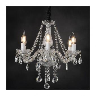 полилей gladiolo, chrome+clear+black, aca lighting, 6xE14, blk80416pcc