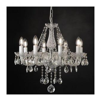 полилей gladiolo, chrome+clear+black, aca lighting, 8xE14, blk80418pcc