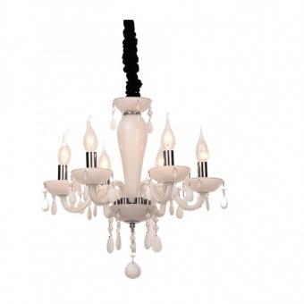 полилей tulia, white+chrome+black, aca lighting, 6xE14, blk82046pwc