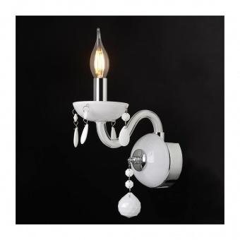 аплик tulia, white+chrome, aca lighting, 1xE14, blk82041wwc