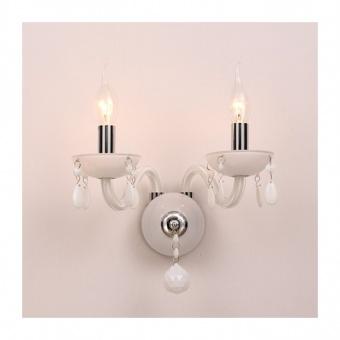 аплик tulia, white+chrome, aca lighting, 2xE14, blk82042wwc