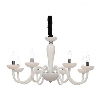 полилей lunaria, white+chrome+black, aca lighting, 8xE14, blk82188pwc